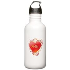 Polly Valentines Sports Water Bottle