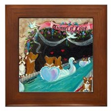 Corgi Tunnel Of Love Framed Tile