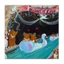 Corgi Tunnel Of Love Tile Coaster