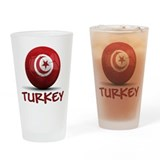 Team Turkey Drinking Glass