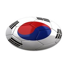 Team South Korea 22x14 Oval Wall Peel