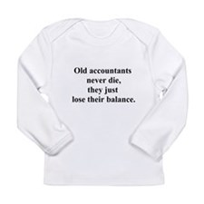 old accountants Long Sleeve Infant T-Shirt