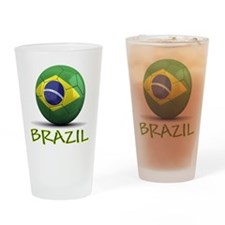 Team Brazil Drinking Glass