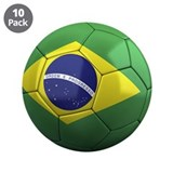 "Team Brazil 3.5"" Button (10 pack)"