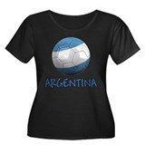 Team Argentina Women's Plus Size Scoop Neck Dark T