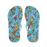 Squirrels Up a Tree Flip Flops