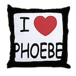 I heart phoebe Throw Pillow