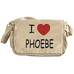 I heart phoebe Messenger Bag
