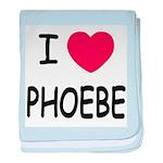 I heart phoebe baby blanket
