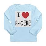 I heart phoebe Long Sleeve Infant T-Shirt