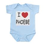 I heart phoebe Infant Bodysuit