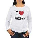 I heart phoebe Women's Long Sleeve T-Shirt