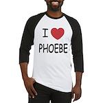 I heart phoebe Baseball Jersey