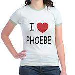 I heart phoebe Jr. Ringer T-Shirt