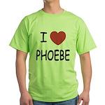 I heart phoebe Green T-Shirt