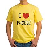 I heart phoebe Yellow T-Shirt