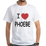 I heart phoebe White T-Shirt