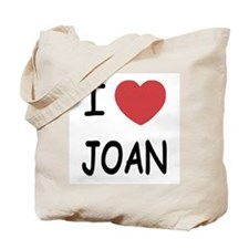 I heart joan Tote Bag
