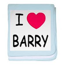 I heart barry baby blanket