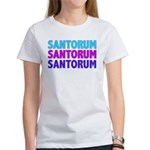 Rick Santorum Purple & Teal Women's T-Shirt