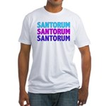 Rick Santorum Purple & Teal Fitted T-Shirt
