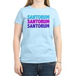 Rick Santorum Purple & Teal Women's Light T-Shirt