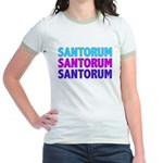 Rick Santorum Purple & Teal Jr. Ringer T-Shirt