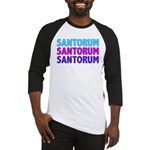 Rick Santorum Purple & Teal Baseball Jersey