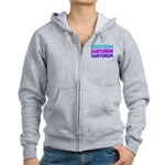 Rick Santorum Purple & Teal Women's Zip Hoodie