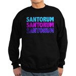 Rick Santorum Purple & Teal Sweatshirt (dark)