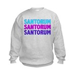 Rick Santorum Purple & Teal Kids Sweatshirt