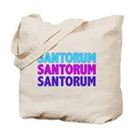 Rick Santorum Purple & Teal Tote Bag