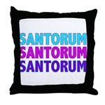 Rick Santorum Purple & Teal Throw Pillow
