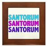 Rick Santorum Purple & Teal Framed Tile