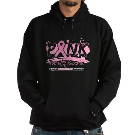 Breast Cancer Pink Cousin Hoodie (dark)