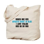 Star Trek Poem Tote Bag