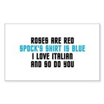 Star Trek Poem Sticker (Rectangle 10 pk)