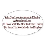 Strict Sticker (Oval 50 pk)