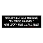 Angel wife Bumpersticker