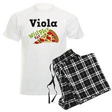 Viola Play For Pizza Men's Light Pajamas