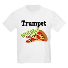 Trumpet Play For Pizza T-Shirt