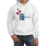 I Heart Porta-Potty Hooded Sweatshirt