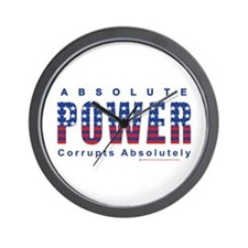 Funny Power corrupts Wall Clock