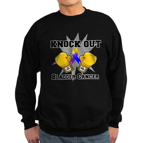 Knock Out Bladder Cancer Sweatshirt (dark)