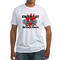 Knock Out Brain Cancer Fitted T-Shirt
