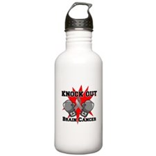 Knock Out Brain Cancer Water Bottle