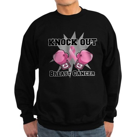 Knock Out Breast Cancer Sweatshirt (dark)