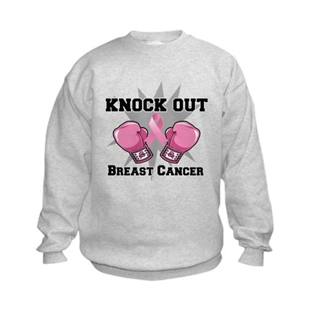 Knock Out Breast Cancer Kids Sweatshirt