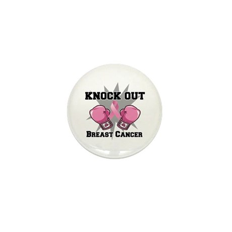Knock Out Breast Cancer Mini Button (100 pack)