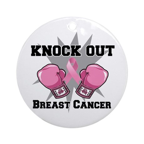 Knock Out Breast Cancer Ornament (Round)
